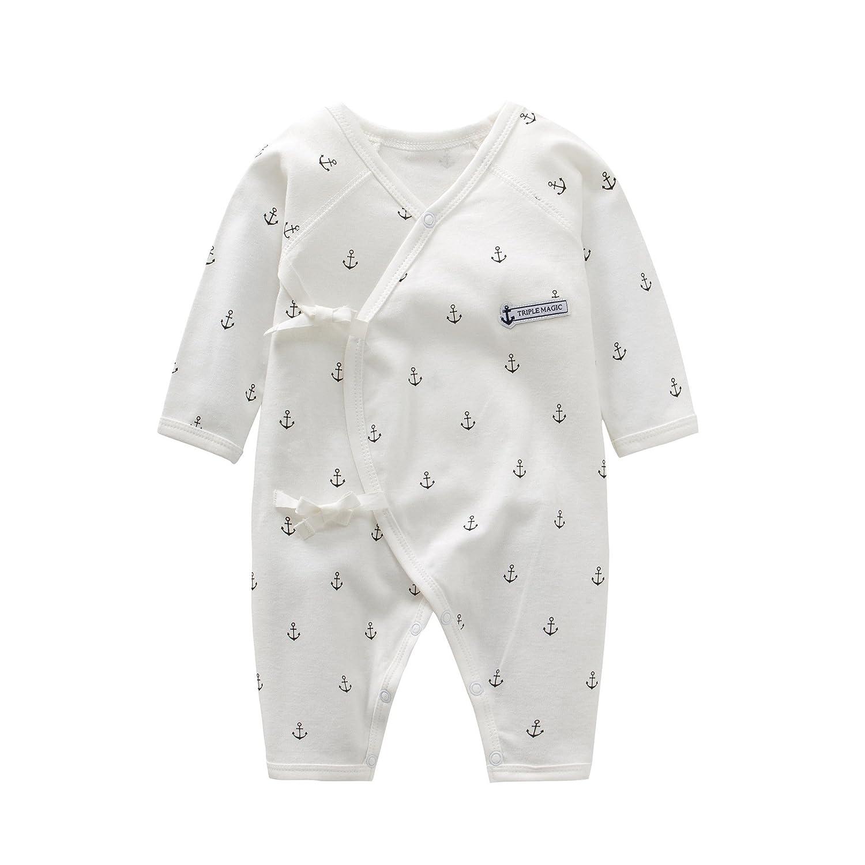 fairy baby Completo Completo da Notte a Maniche Lunghe in Kimono di Cotone Biologico per Bebè Unisex