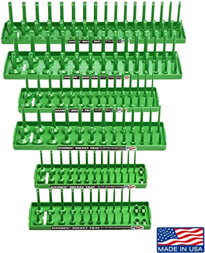 Hansen Global 92001 SAE & Metric 2-Row Socket Tray Set