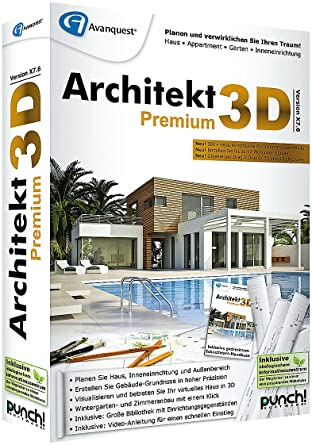 Architekt 3D X7.6 Premium - 3D Haus & Gartenplaner: Amazon.de: Software