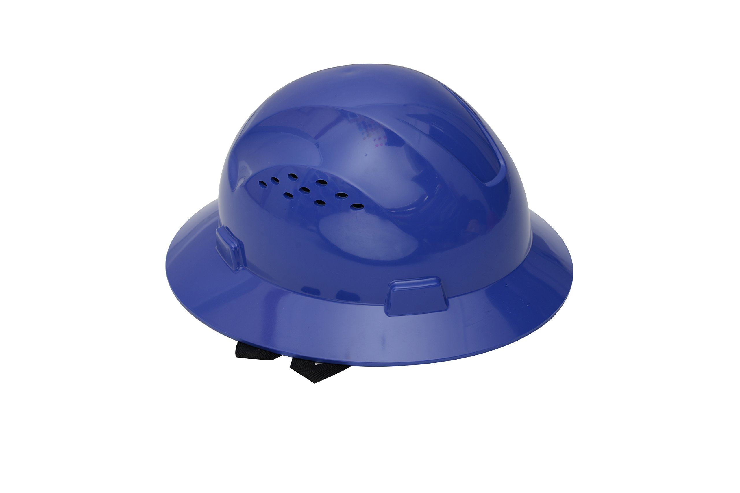 CJ Safety Full Brim Hard Hat with Fas-Trac Suspension - Vented (Blue)