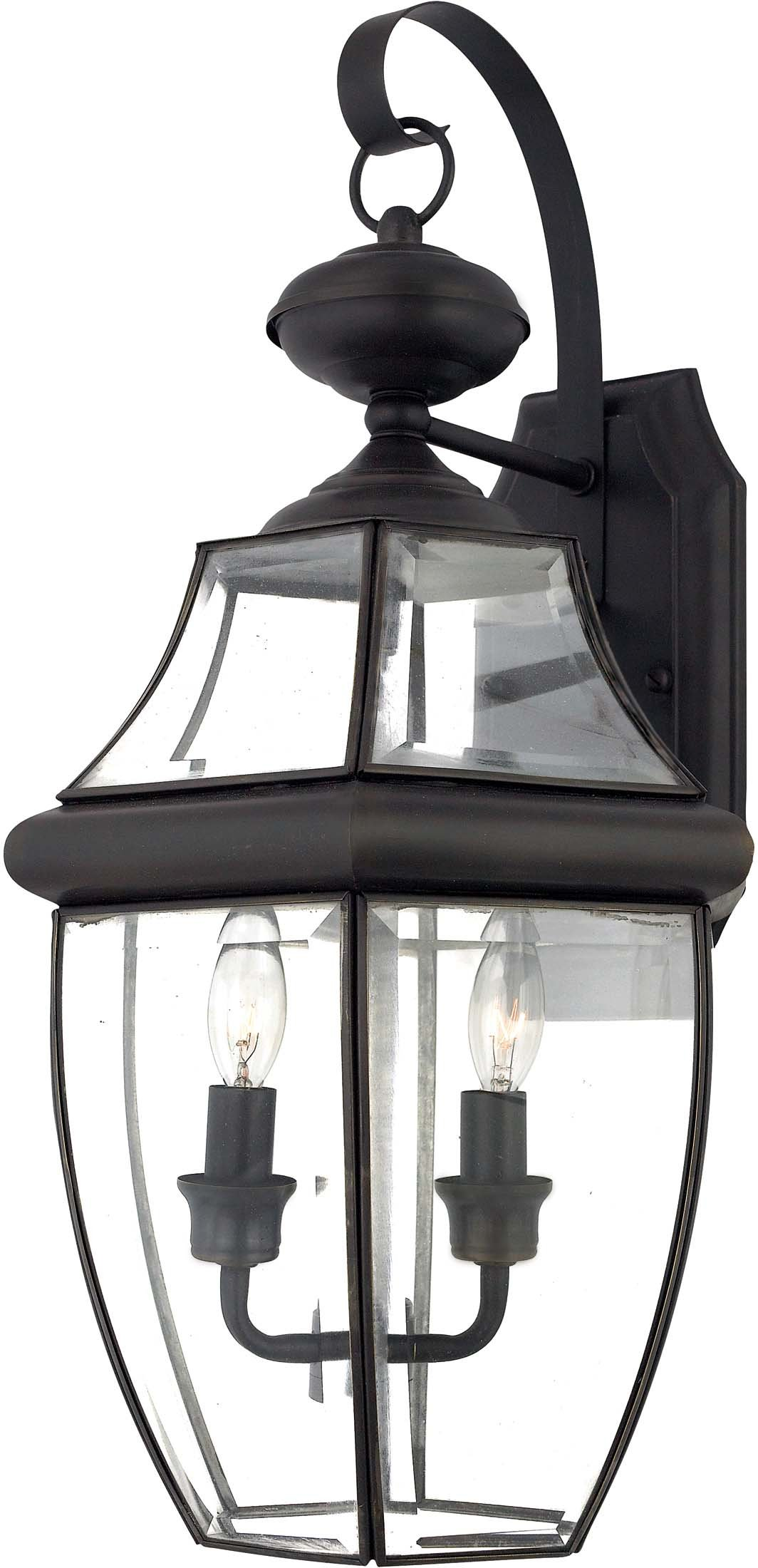 Quoizel NY8317Z 2-Light Newbury Outdoor Lantern in Medici Bronze