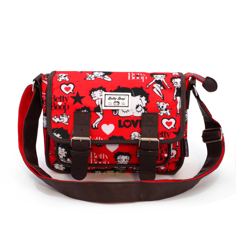 Karactermania Betty Boop Rouge Bolsos Bandolera, 26 cm, Rojo