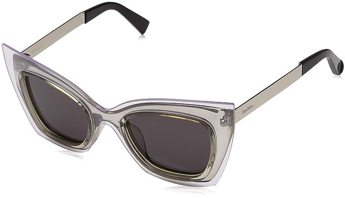 Max Mara MM Overlap IR 9RQ 48 Gafas de Sol, Plateado (Smoke ...