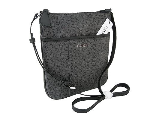 5644395ac8af New Guess G Logo Purse Cross Body Shoulder Hand Bag Coal Black Sandhill  Mini  Amazon.ca  Shoes   Handbags