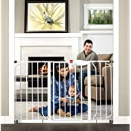 Regalo Easy Step 49-Inch Extra Wide Baby Gate, Includes 4-Inch and 12-Inch Extension Kit, 4 Pack of Pressure Mount Kit