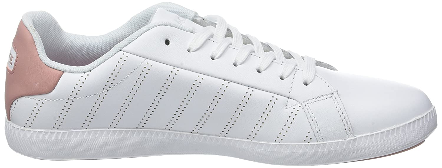 Lacoste Womens White//Pink Graduate 318 1 Sneakers