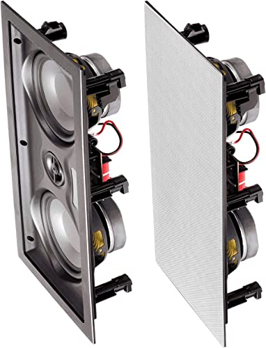 OSD Audio 150W 5.25 In-Wall LCR Speaker Center Channel with Dual Woofers IW525