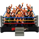 VT Mini Smack Battle Action Wrestling Toy Figure Play Set w/ Ring, 12 Toy Figures