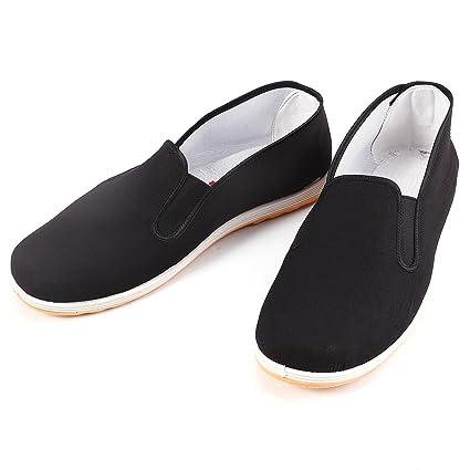 21ba0fa72 surepromise Kung Fu Shoes Slippers Dancing Tai Chi Shoes Rubber Sole (Mens  EU 42/