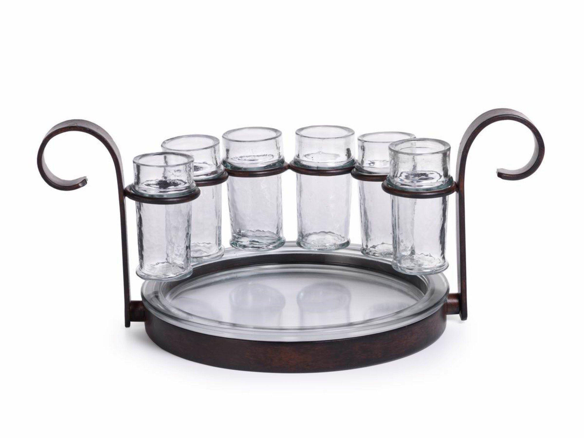 ''Regale'' Shot Glass Serving Set, Bronze