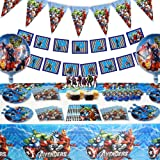 Sets of 105 Pcs Avengers Birthday Party Supplies for 10 Guests Decorations With Superhero Favors for Kids Like 3rd 4th…