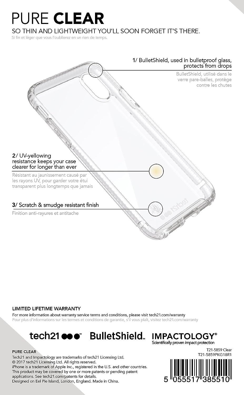 coque pure clear de tech21 pour iphone 8/7