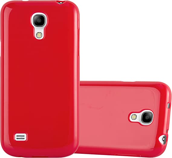 Cadorabo Funda para Samsung Galaxy S4 Mini en Jelly Rojo: Amazon.es: Electrónica