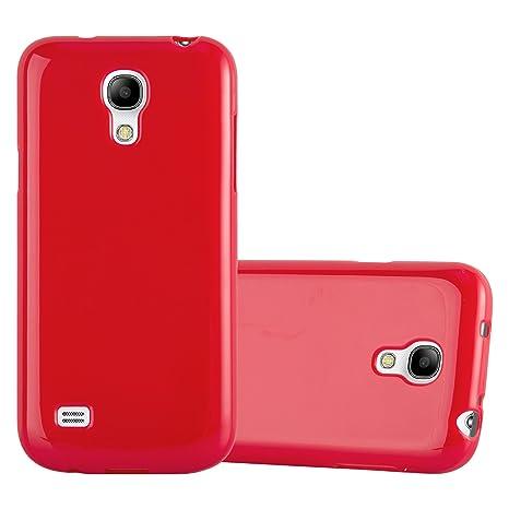Cadorabo Funda para Samsung Galaxy S4 Mini en Jelly Rojo - Cubierta Proteccíon de Silicona TPU Delgada e Flexible con Antichoque - Gel Case Cover ...