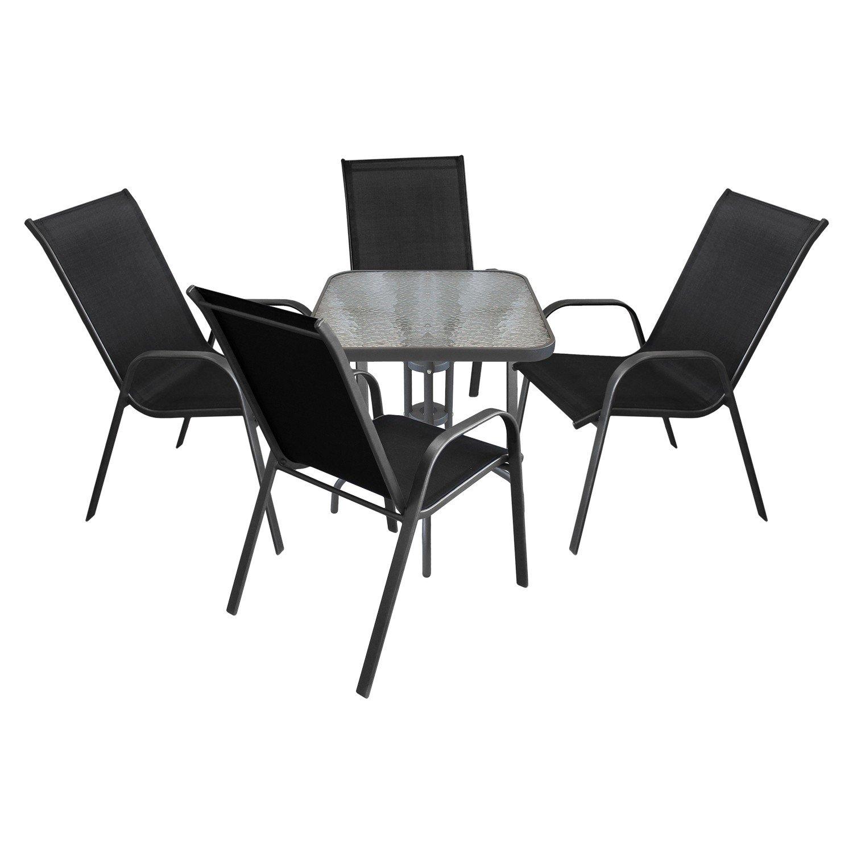 5tlg. Sitzgruppe Sitzgarnitur Gartengarnitur Balkonmöbel ...
