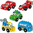 UNICO plus 维尼高布鲁斯 拼插玩具 儿童汽车  18个月-5岁 大颗粒兼容(五种小车随机发)