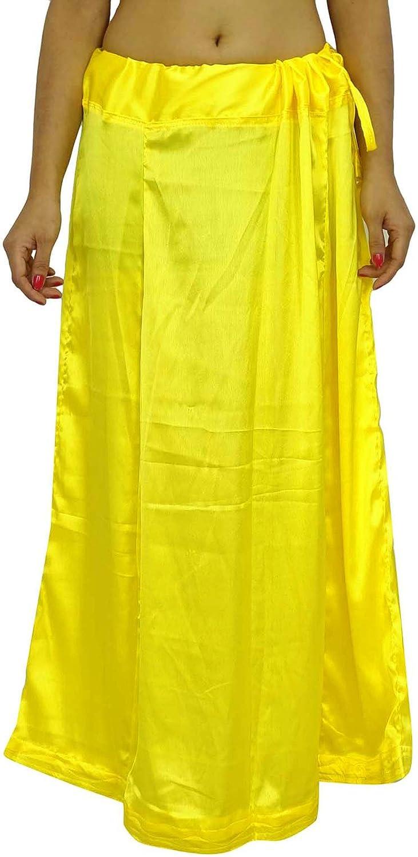 Satin Silk Saree PetticoatUnderskirt Bollywood Indian Futter f/ür Sari