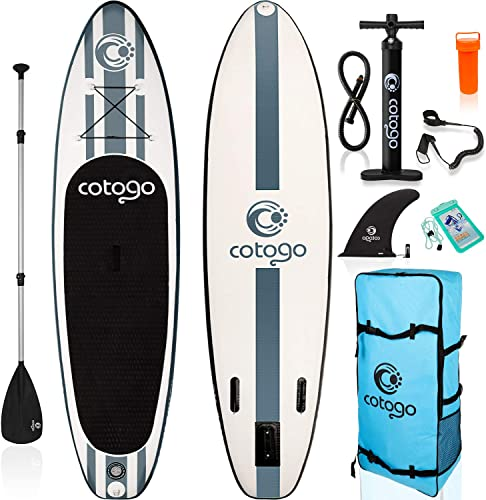 rolimate Inflatable Stand Up Paddle Board, with All SUP Accessories 120 inches Length 6 Inches Thickness Wide Stance Bottom Fin for Paddling