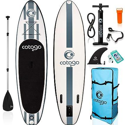 Rolimate Tabla de Surf Hinchable con Bomba, Remo, Aleta, Kit de Reparación, Cuerda de Pie Extraíble, Bolsa de Almacenamiento Tabla de Sup para Surf ...
