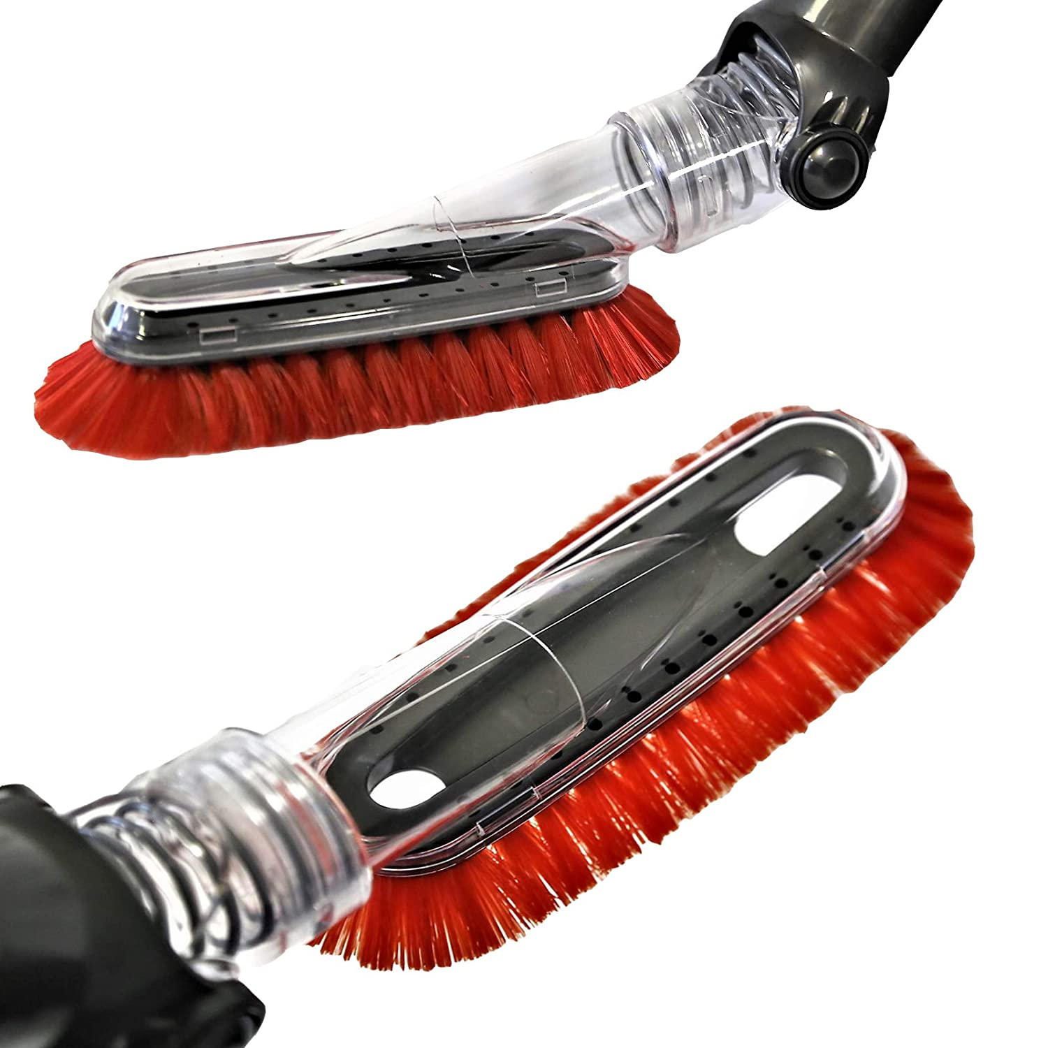 Replacement Multi-Angle FlexiSoft Dusting Brush for Shark 1 3/8 Hose 32-35mm Adapter Red Brush