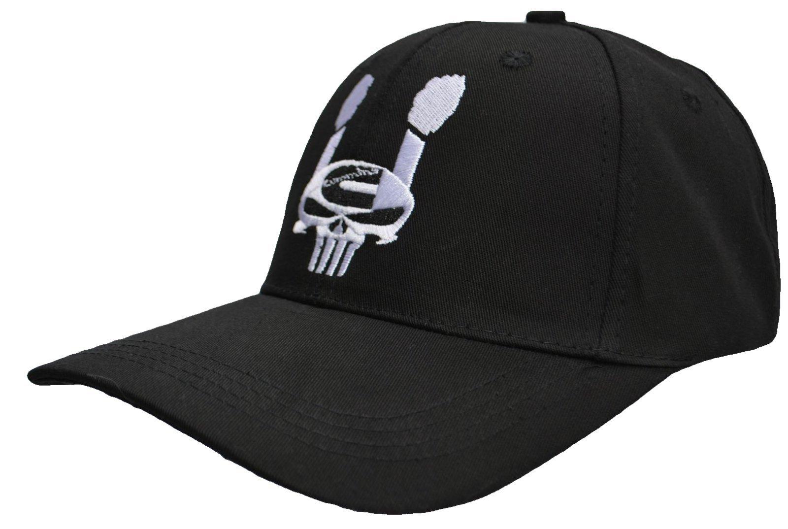 c081993a43041 Cummins Diesel Power Rolling Coal Skull Punisher Black Hat