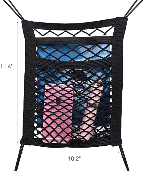 I Universal Car Net Can Be Used as Luggage Net or as Safety Net Improved Concept Livix Premium Quality Boot Net I Boot Organiser for a Safe Boot