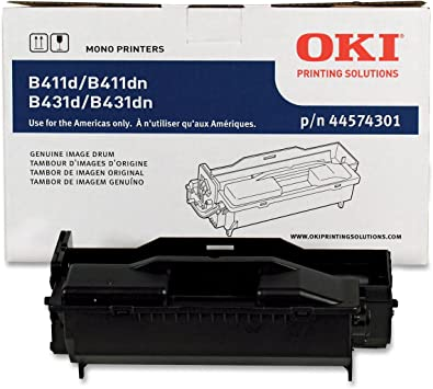 Okidata 44574301 Image Drum for B411/B431 Series Printers, 20000 Page Yield, Black