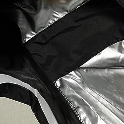 Amazon Fitvc サウナスーツ メンズ レディース 男女兼用 超発汗 運動着 脂肪燃焼 洗える おしゃれ ダイエットウェア ストレッチ ダイエット 新陳代謝 洗濯可 上下セット ブラック L Fitvc サウナスーツ