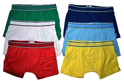 Dealzone 6er Pack Kids Jungen Boxershorts Uni Retroshorts