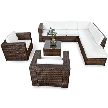 Amazon.de: SSITG Polyrattan Gartenmöbel Lounge Möbel Sitzgruppe ...