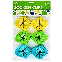 Socken Clips mit unkomplizierter Anbringung – itena Silikon Sockenklammern Familienpackung (30 Stück)