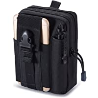 Zeato Tactical Molle Pouch EDC Utility Gadget Belt Waist Bag with Cell Phone Holster Holder for iPhone X 8/8 Plus 6/6 Plus 7/7Plus Samsung Galaxy Note 8 S7 S6 LG HTC and More