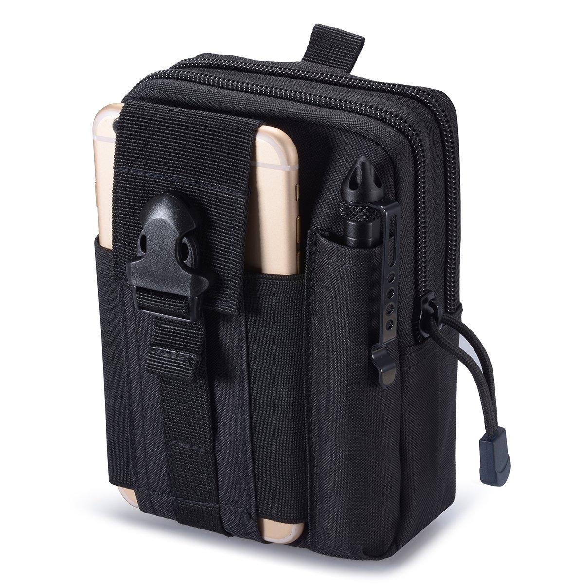 Zeato–Sac tactique EDC, gadget pour ceinture pour téléphone portable iPhone 6/6Plus 7/7Plus, Samsung Galaxy S7S8S6, LG, HTC et autres Zeato-Sac tactique EDC