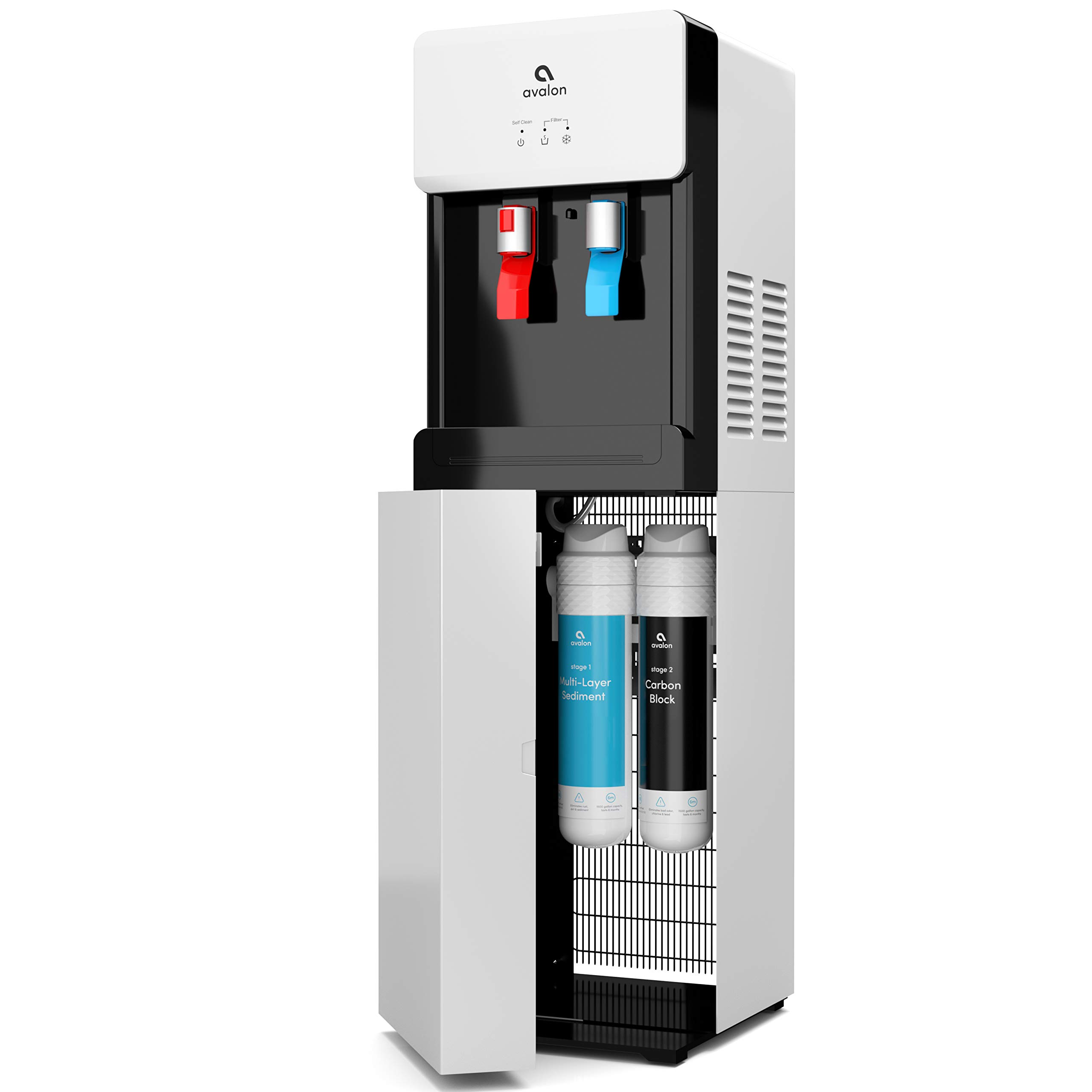 Avalon Self Cleaning Bottleless Water Cooler Dispenser - Hot & Cold Water, Child Safety Lock, Innovative Slim Design - UL/Energy Star Approved- White - A7BOTTLELESSWHT by Avalon