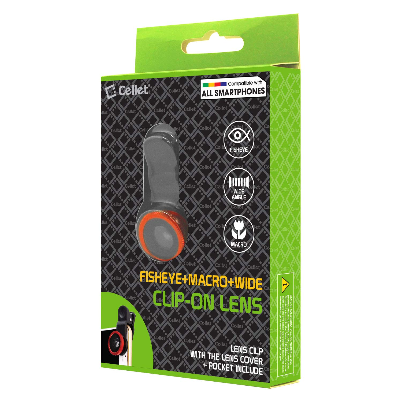 Macro Fisheye Cellet 3 in 1 Clip-on Lens Camera Kit Compatibility Motorola Moto Z3//Z3 Play//E5 Plus//E5 Play//Moto G6//G6 Play//Moto G5S Plus//Moto X4//Z2 Force//E4 Plus//E4//Z2 Play Wide Angle