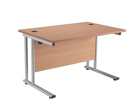 professional office desk. Office Hippo Professional Cantilever Desk, Wood, Beech, Silver Frame, 120 X Desk .