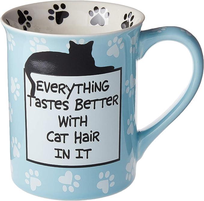 Our Name Is Mud Cat Hair Stoneware Mug 16 Oz Kitchen Dining Amazon Com