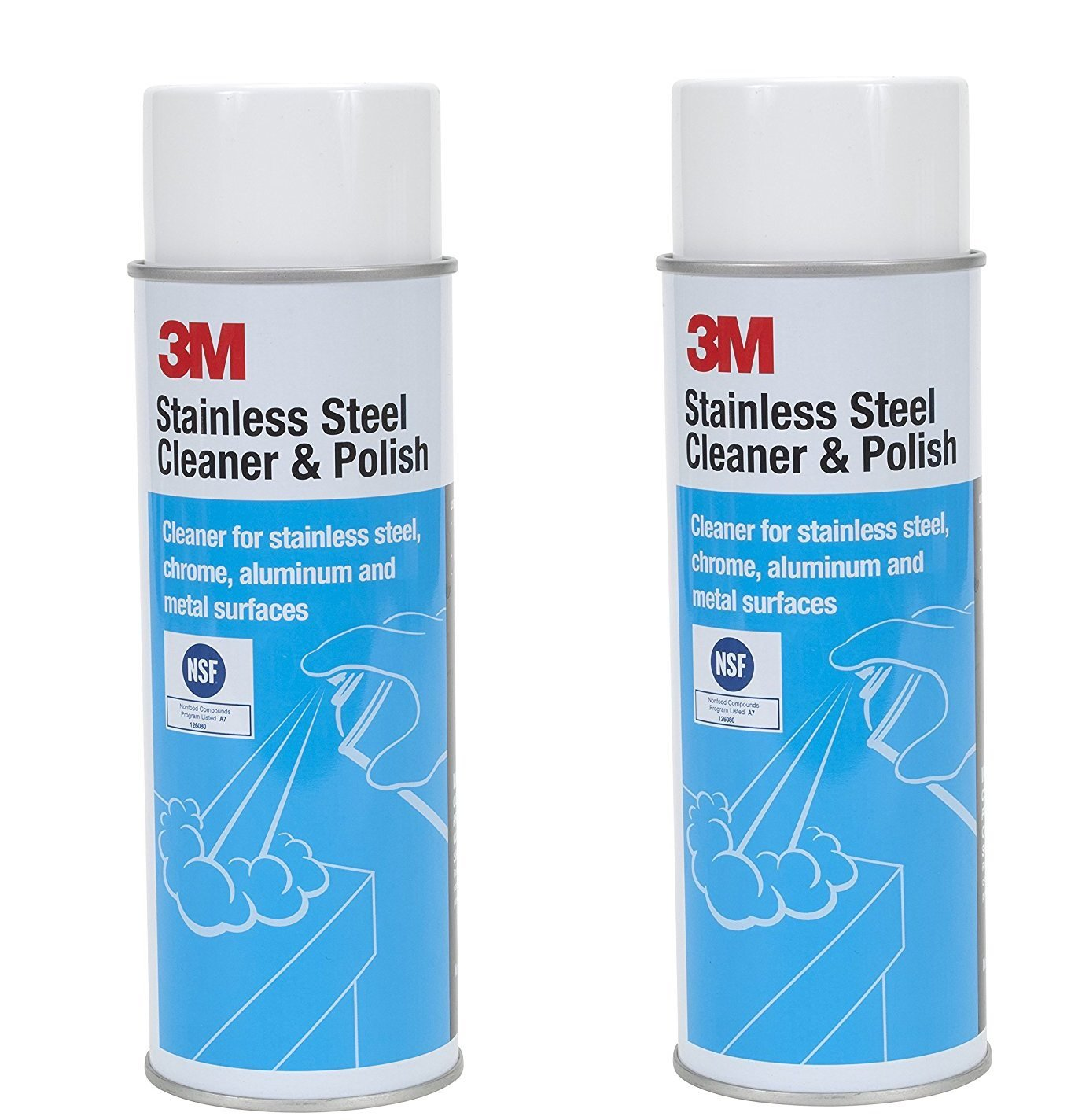 3M 14002 Stainless Steel Cleaner and Polish, 2 Sets (21 oz)