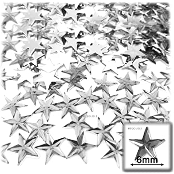 Top Rated. The Crafts Outlet 144-Piece Loose Flat Back Acrylic Star  Rhinestones 85731a429c84