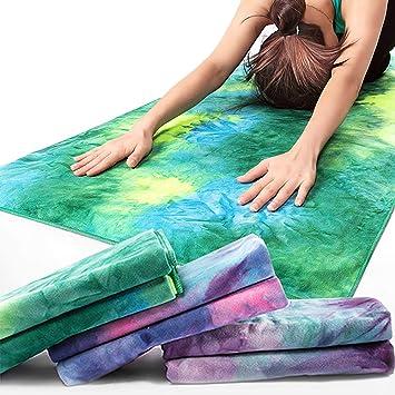 MEESU Toalla de Microfibra para Yoga, 100% Absorbente de ...