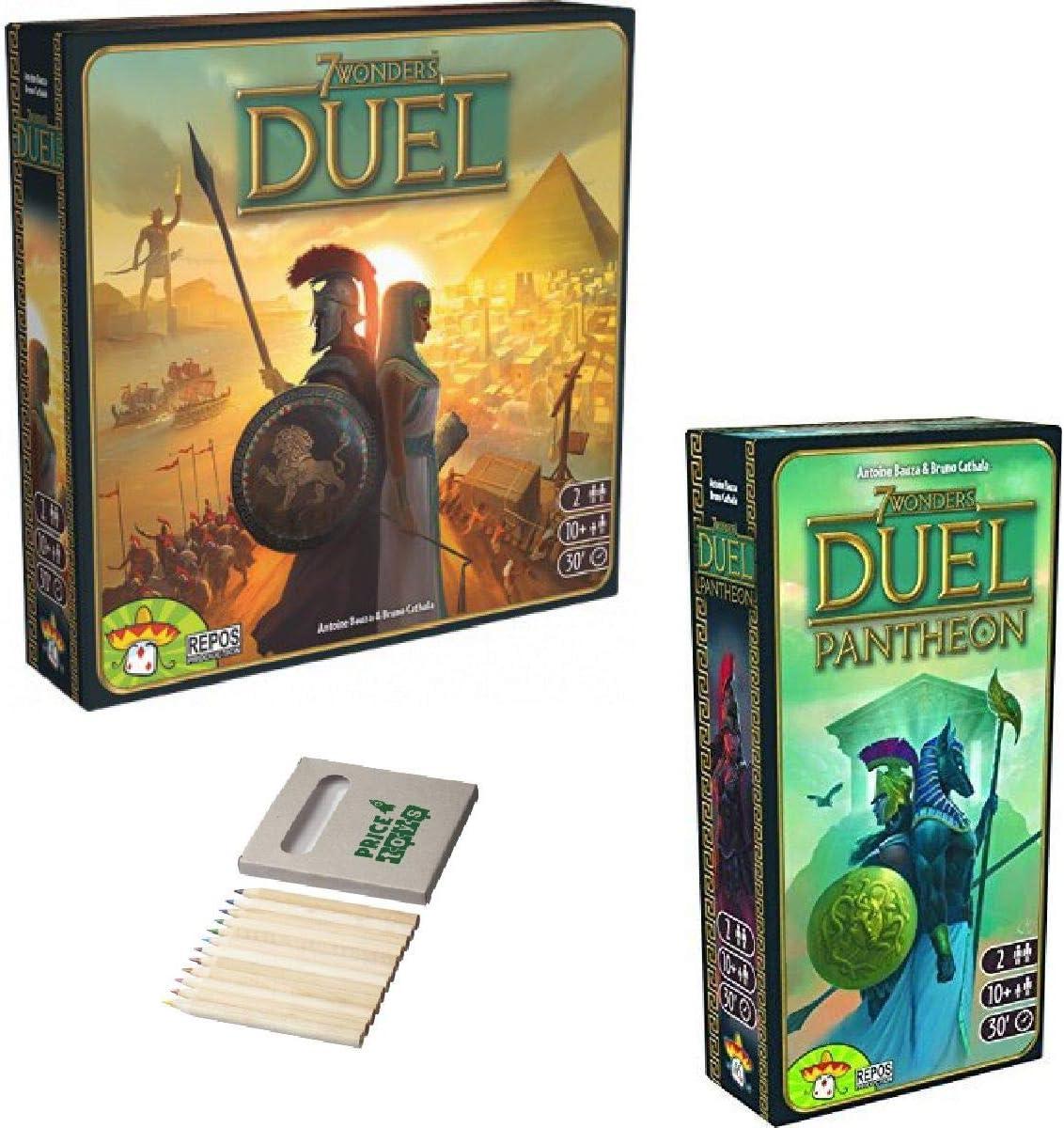 Price Toys 7 Maravillas Duel Juego Colección - Incluye 7 Maravillas: Duel y Expansión Panteón (Duel / Panteón): Amazon.es: Juguetes y juegos