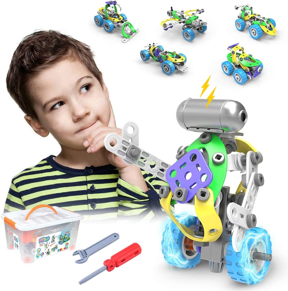 CENOVE STEM 5 IN 1 Bildungsbausteine Spielzeug für Junge