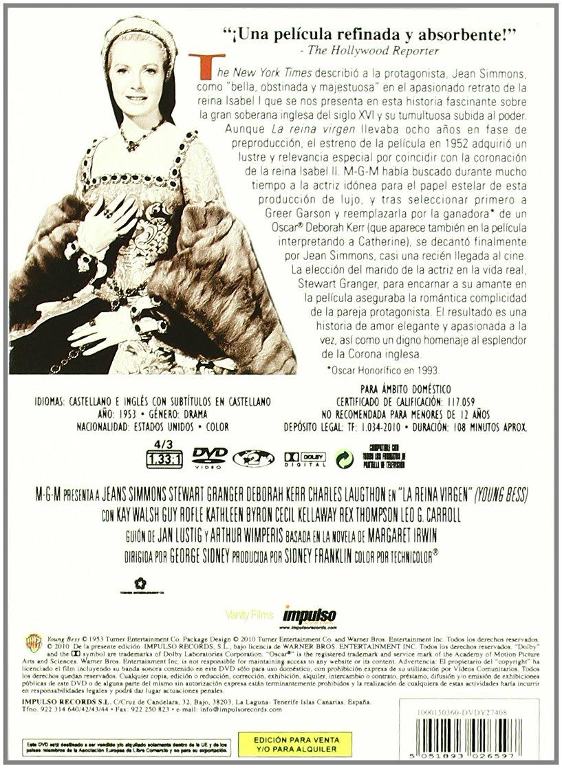 La Reina Virgen [DVD]: Amazon.es: Jean Simmons, Stewart Granger, Deborah Kerr, Charles Laughton, Kay Walsh, George Sidney, Jean Simmons, Stewart Granger: Cine y Series TV