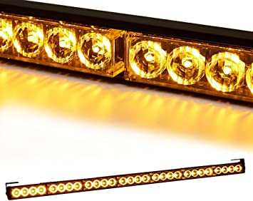 "26/"" 24LED Lights Bar Emergency Warning Traffic Advisor Flash Strobe Amber Yellow"