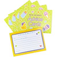 24 Pack Mommy Advice Cards Baby Shower Gender Neutral Fun Party Favors Parents-to-Be Message Slides
