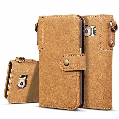 Amazon.com: dfly-us Galaxy S6 EDGE funda, estilo retro, de ...