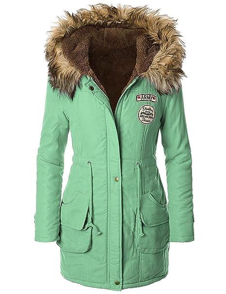 iLoveSIA para mujer abrigo con capucha con forro de pelo sintético para hombre: Amazon.es: Ropa y accesorios