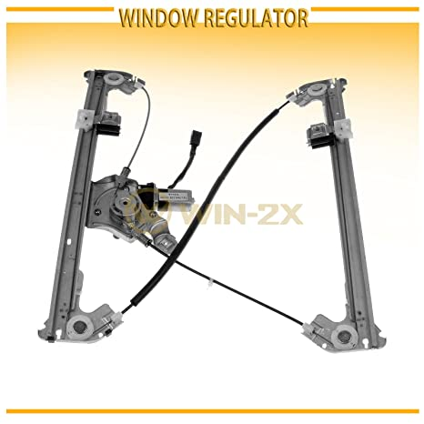 WIN-2X New 1pc Rear Passenger Right Side Power Window Regulator With Motor Assembly Fit 06-08 Lincoln Mark LT 04-08 Ford F150 Crew//Supercrew Cab With 4 Full Size Doors