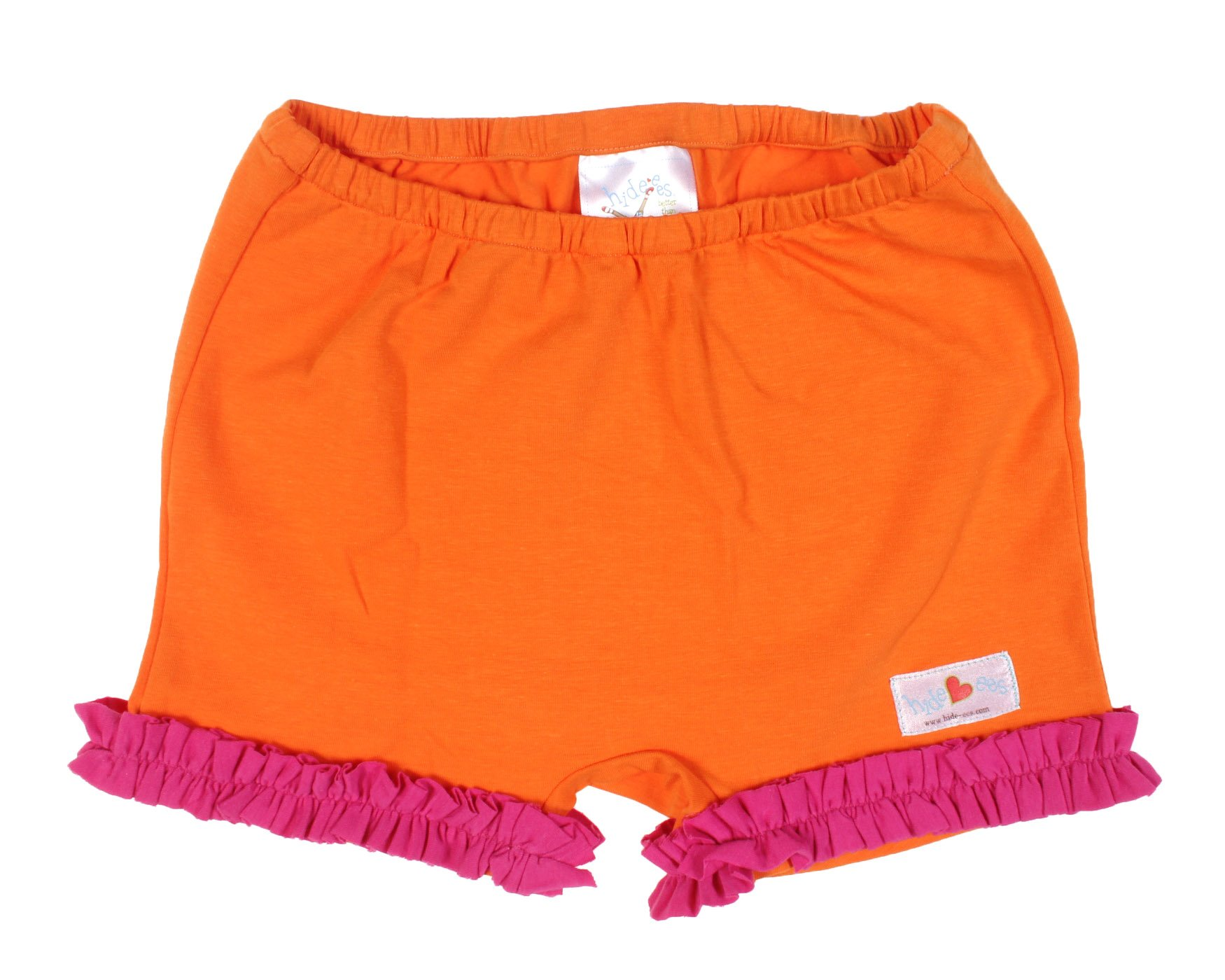 Hide-ees Better Than Bloomers Girls Under Dress Shorts WITH Ruffle (2T-4T, Clementine Cha Cha)