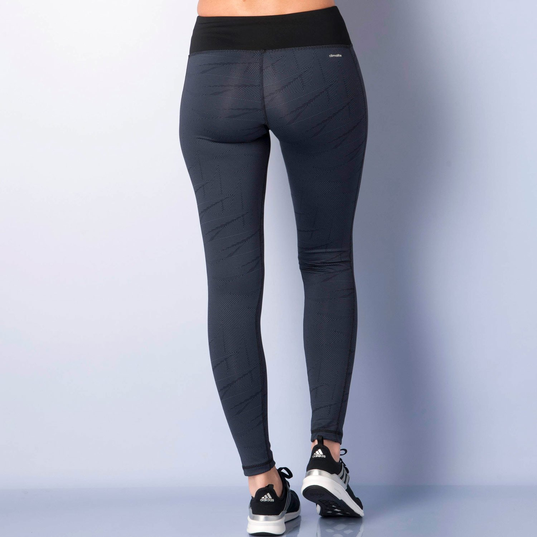 adidas Damen Basic Graphic Print Long Tights Sporthose